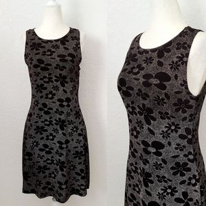 Vintage 90s Y2K Black/White Mod Floral Mini Dress